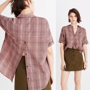 Madewell courier button-back shirt hartley plaid